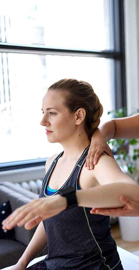 Singapore physio excercise for right shoulder pain